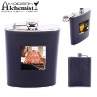 Leatherette Stainless Steel Flask - 8 oz.