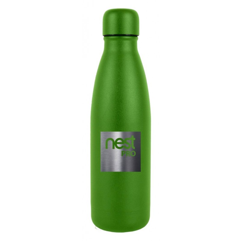 8 oz Neon Green Powder Coated Stainless Steel Flask