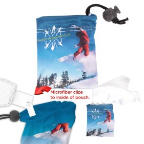 Microfiber Pouch and Cloth