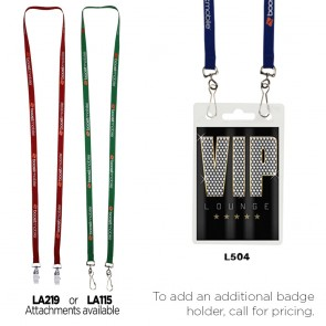 "3/8"" Econo Dual Attachment Lanyard"